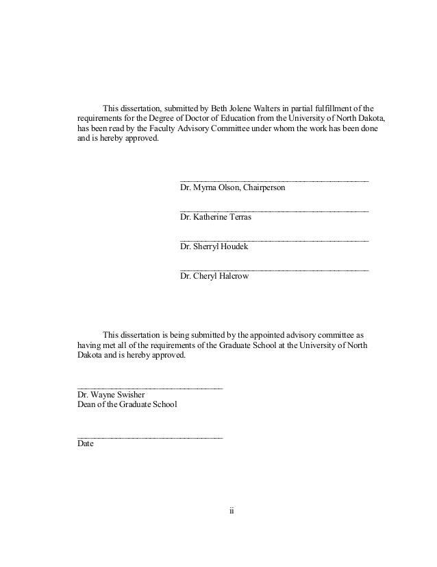 Dissertation Doctoral Education