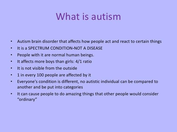 """how the mind of autistic individuals Theory of mind can be summed up as a person's inability to understand and identify the thoughts, feelings and intentions of others individuals with asperger syndrome/hfa can encounter have difficulty recognizing and processing the feelings of others, which is sometimes referred to as """"mind-blindness""""."""