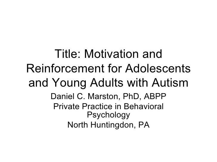 Autism & Reinforcement