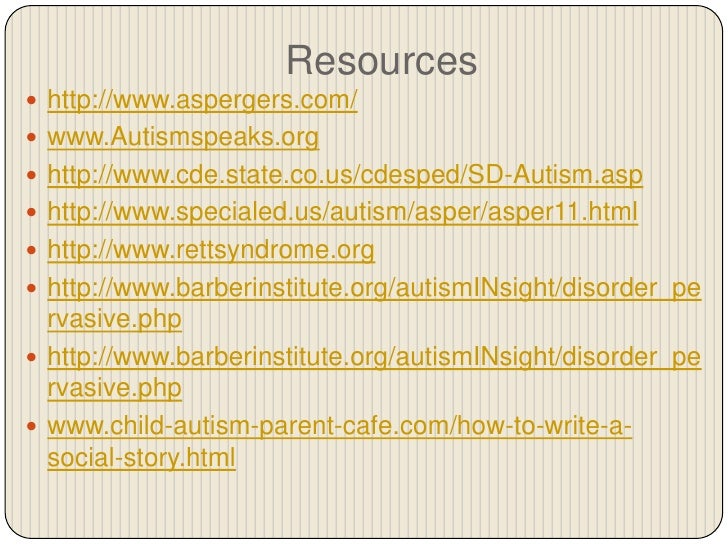 Informative essay on autism
