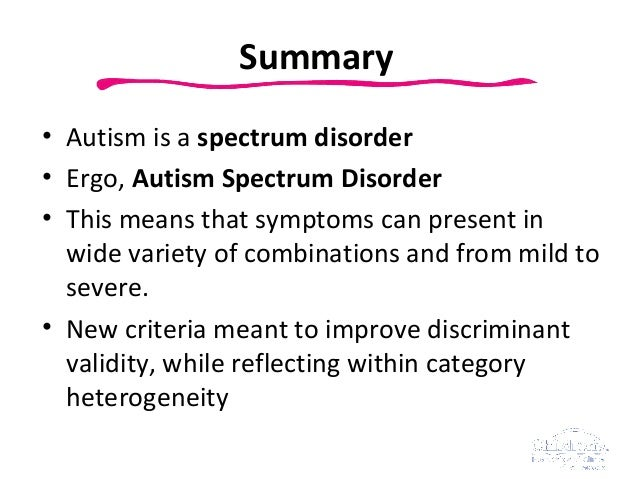 Autism Spectrum Disorder Fact Sheet
