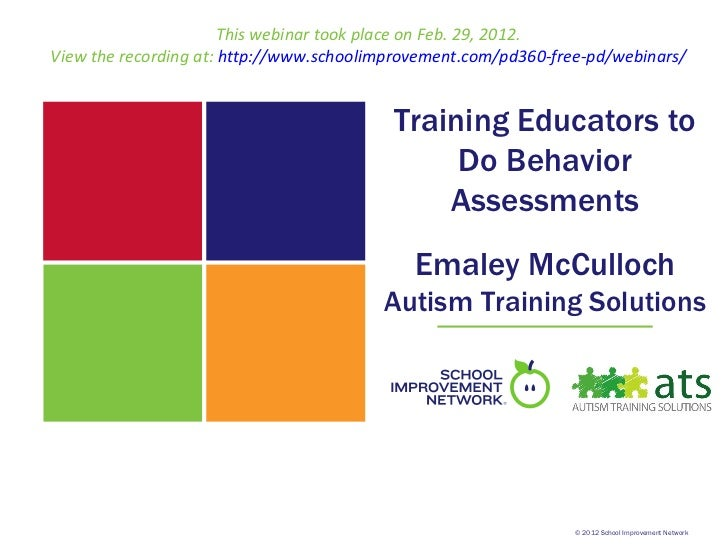 This webinar took place on Feb. 29, 2012.View the recording at: http://www.schoolimprovement.com/pd360-free-pd/webinars/  ...