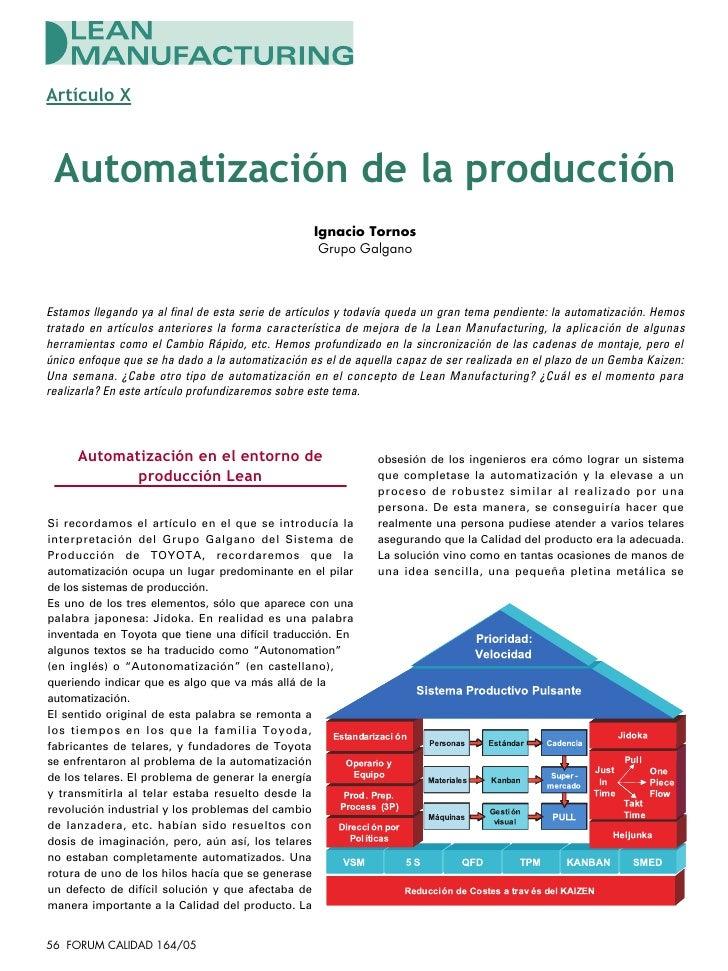 Artículo X Automatización de la producción                                                  Ignacio Tornos                ...