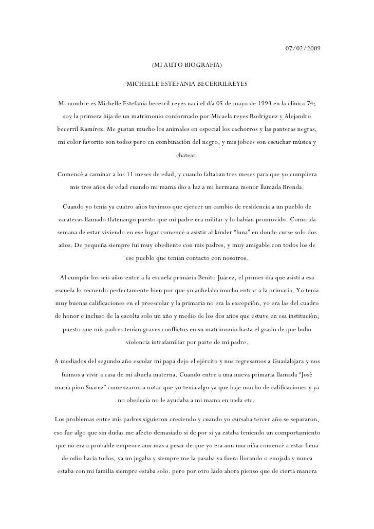 07/02/2009                                       (MI AUTO BIOGRAFIA)                             MICHELLE ESTEFANIA BECERR...