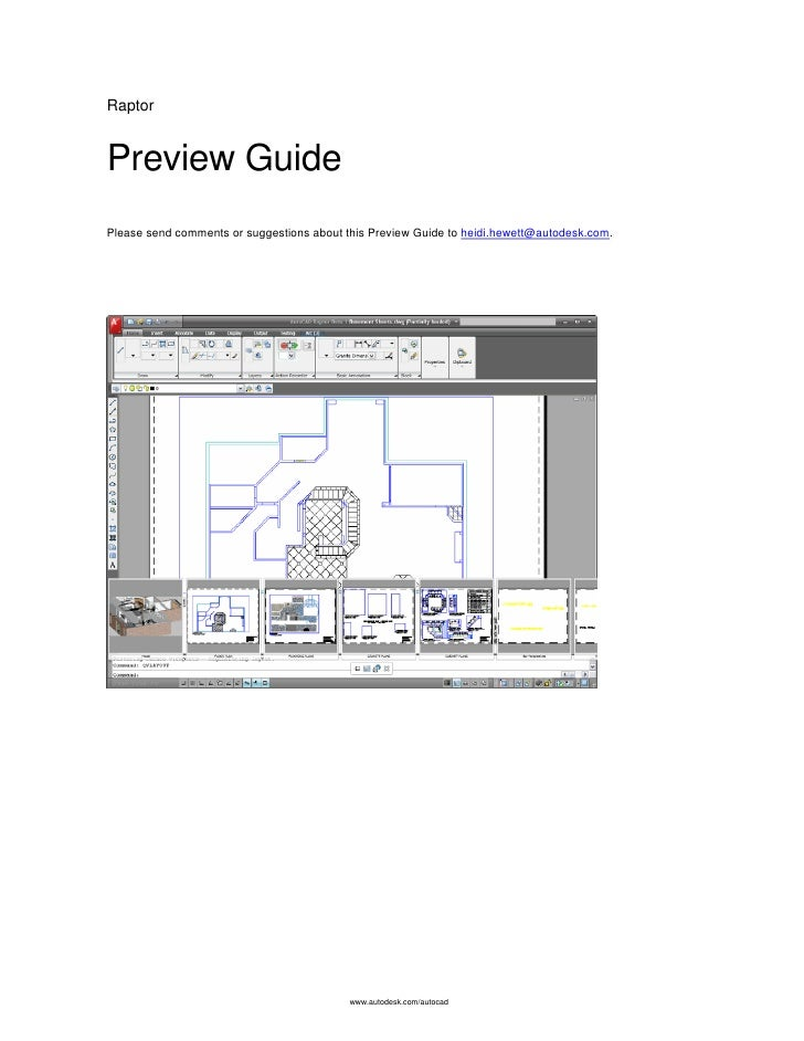 Raptor   Preview Guide Please send comments or suggestions about this Preview Guide to heidi.hewett@autodesk.com.         ...