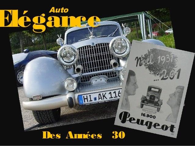 Auto elegance annees 30