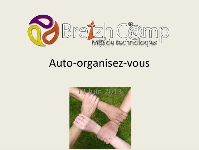 Auto-organisez-vous13 Juin 2013