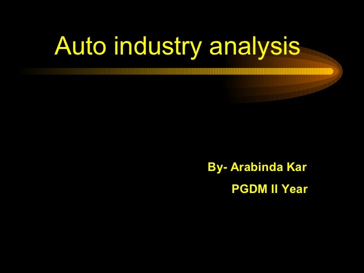 Auto industry Ppt