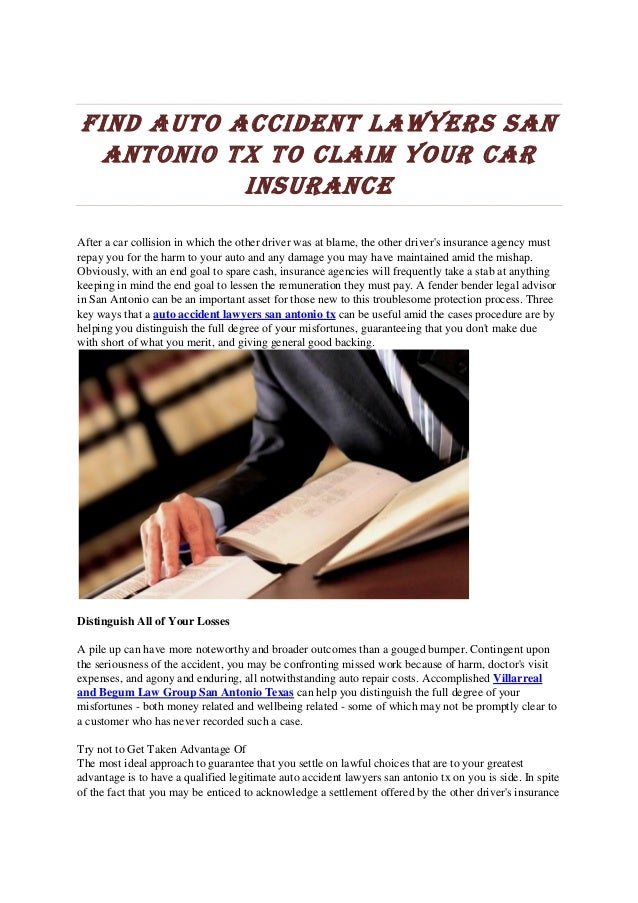 Find auto accident lawyers sanantonio tx to claim your