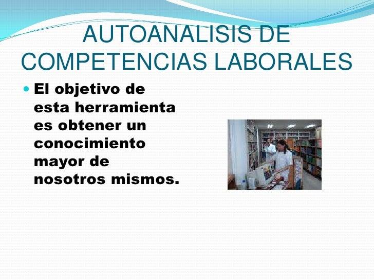 Autoanalisis De Competencias Laborales Igo