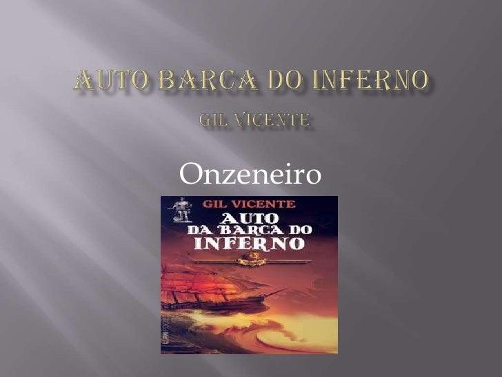 Auto Barca Do infernoGil Vicente <br />Onzeneiro<br />