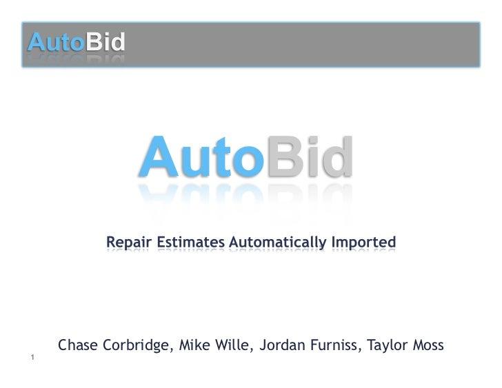 Auto bid final presentation