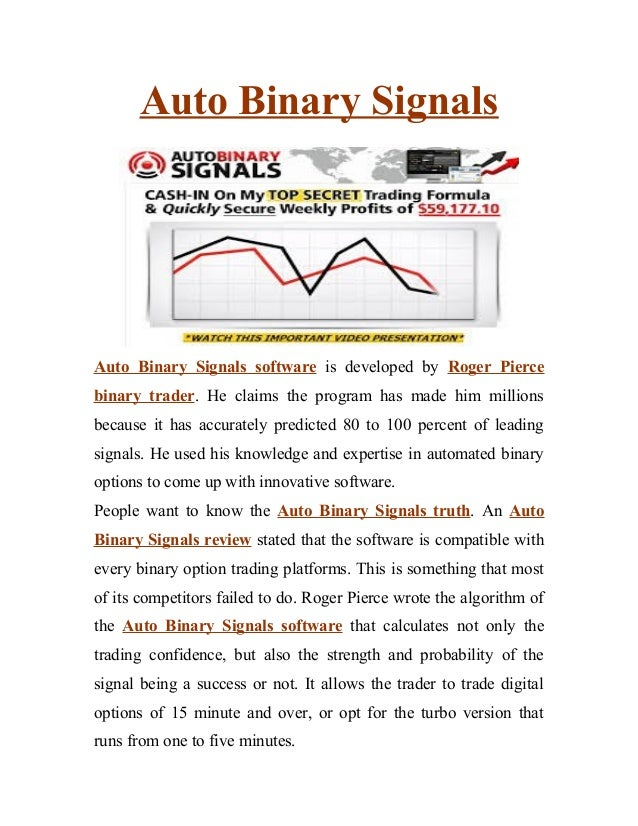 Auto binary signals 1 binary options software review