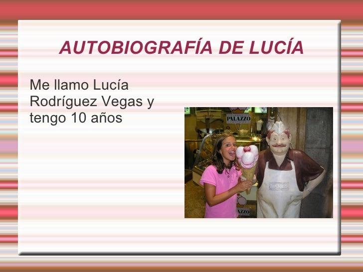 Autobiografia De Lucia