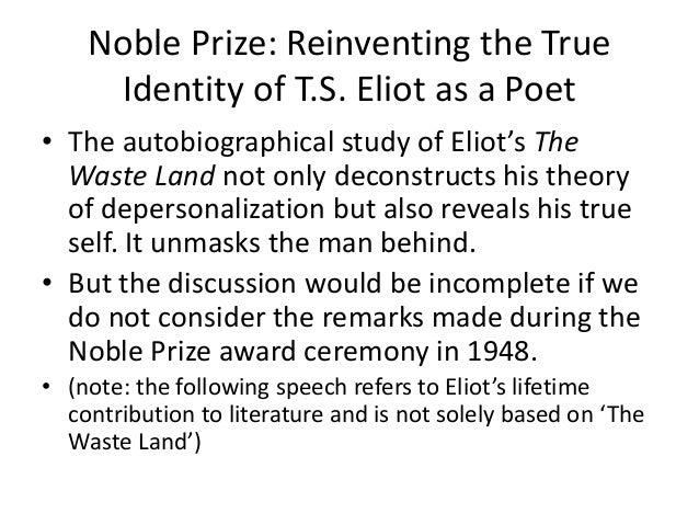 t s eliots the waste land Home e-books  modernism revisited  t s eliot's the waste land  and the poetics of the mythical method advanced search all  content.