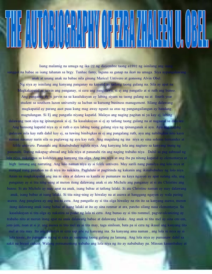 Isang malamig na umaga ng ika-22 ng disyembre taong a1992 ng isinilang ang isang sanggol na babae sa isang tahanan sa brgy...