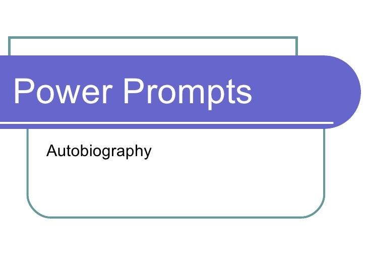 Power Prompts Autobiography
