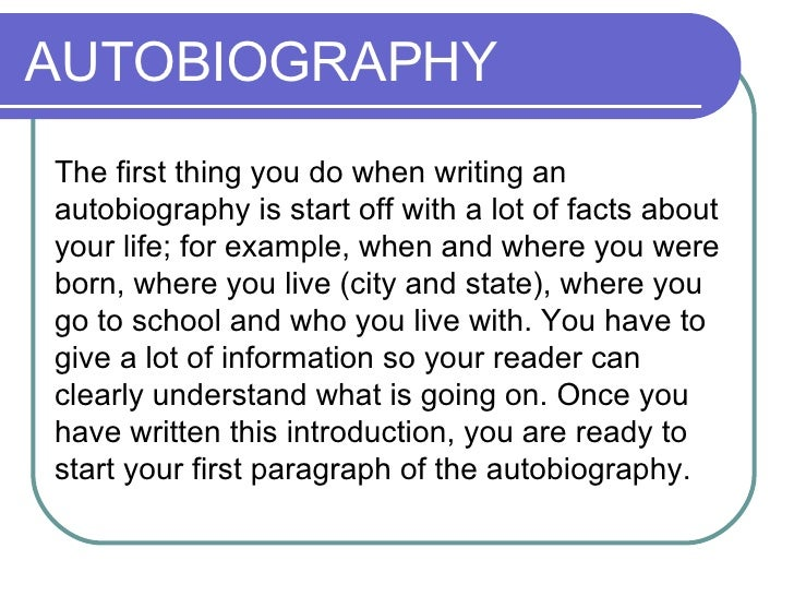 Write my autobiography research paper