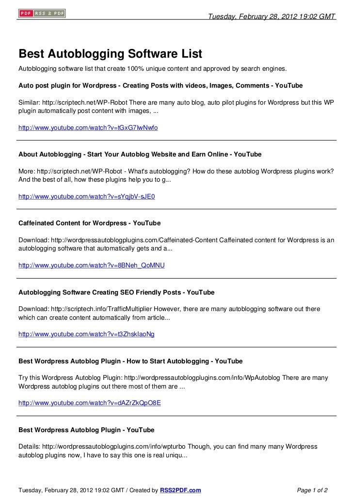 Autoblogging Software that Are SEO Friendly