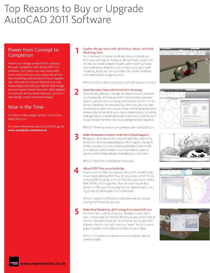 Top 10 reasons to upgrade to AutoCAD 2011