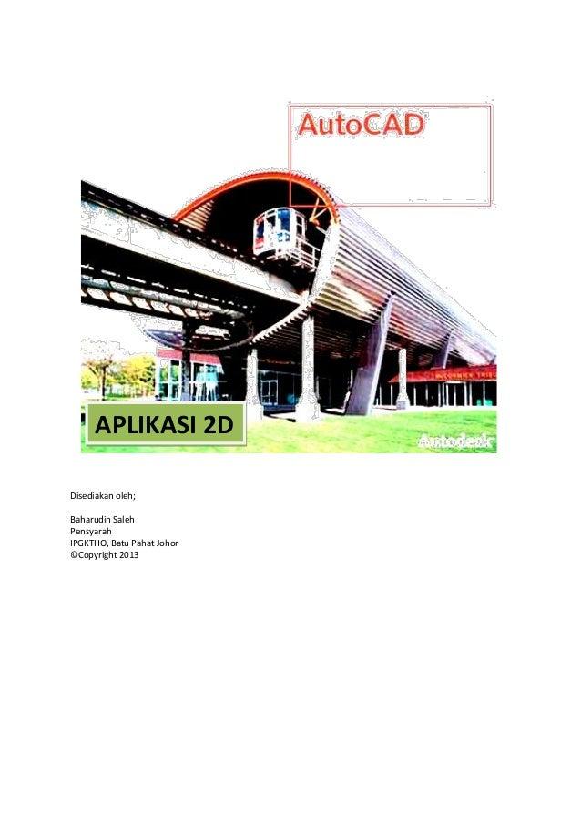 Autocad 2d modul aplikasi