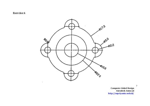 Autocad basic drawing exercises pdf pdf example 3d for Basic cad online