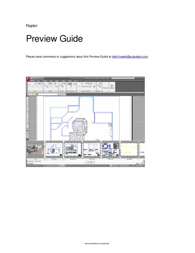 www.autodesk.com/autocad Raptor Preview Guide Please send comments or suggestions about this Preview Guide to heidi.hewett...