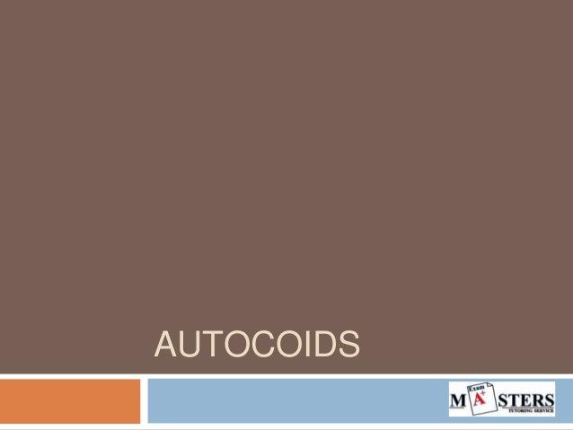 AUTOCOIDS