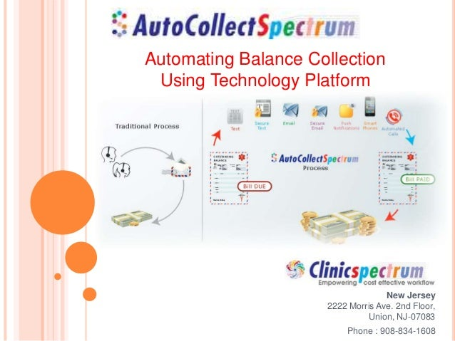 New Jersey 2222 Morris Ave. 2nd Floor, Union, NJ-07083 Phone : 908-834-1608 Automating Balance Collection Using Technology...