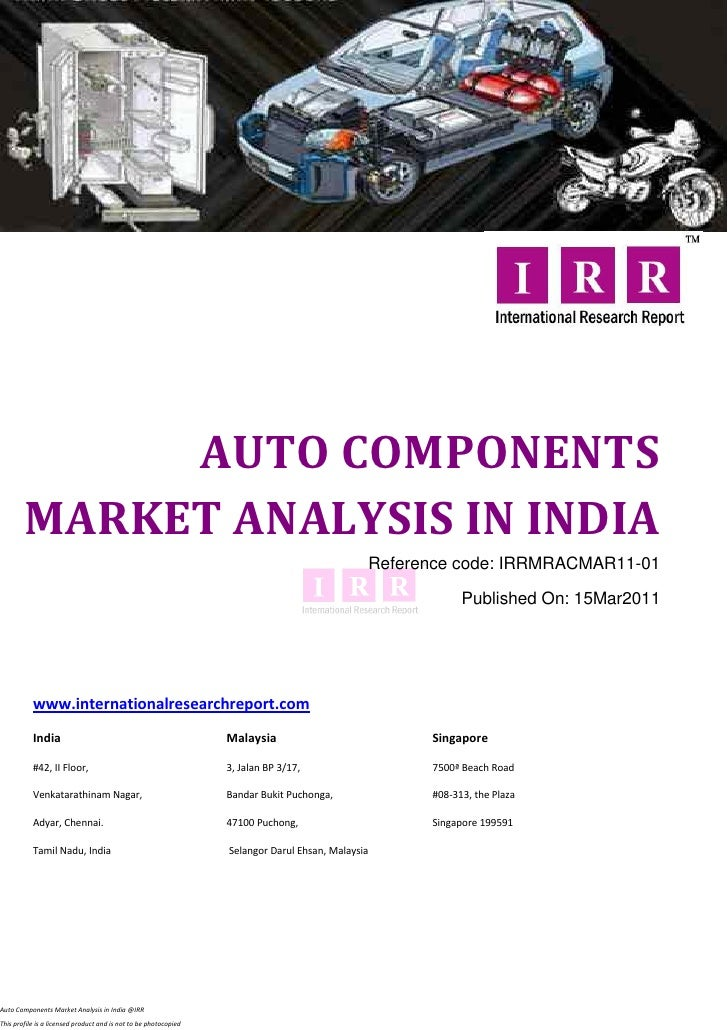 AUTO COMPONENTS        MARKET ANALYSIS IN INDIA                                                                           ...