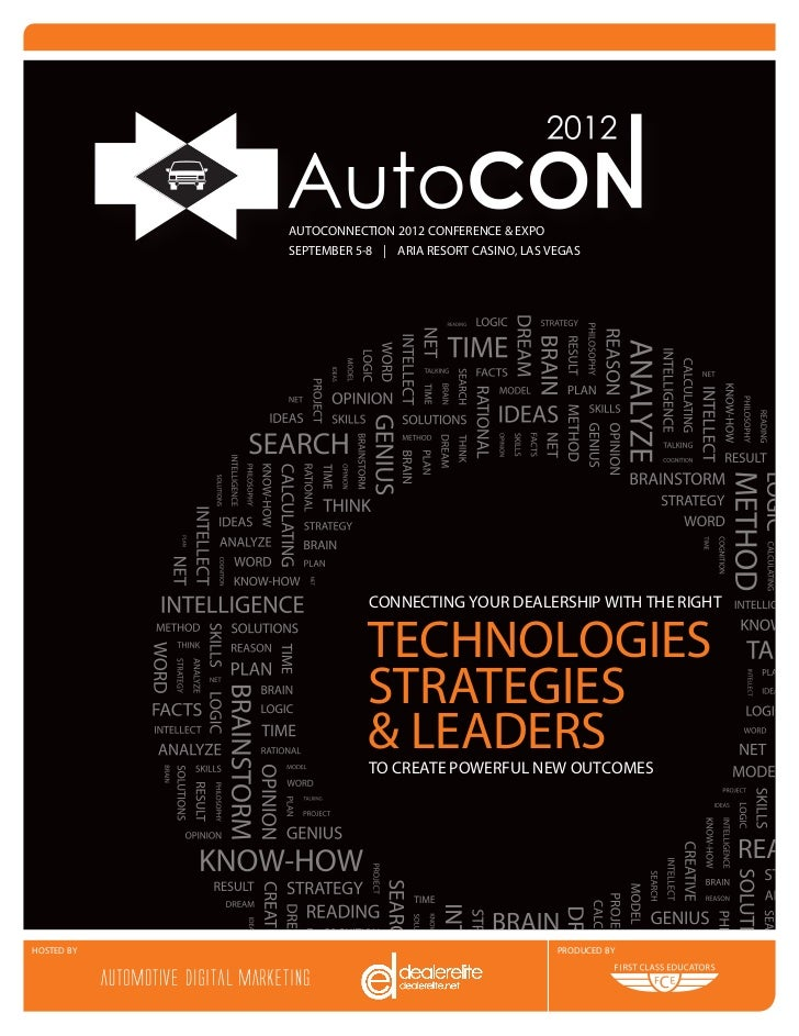 AUTOCONNECTION 2012 CONFERENCE & EXPO            SEPTEMBER 5-8 | ARIA RESORT CASINO, LAS VEGAS                        CONN...
