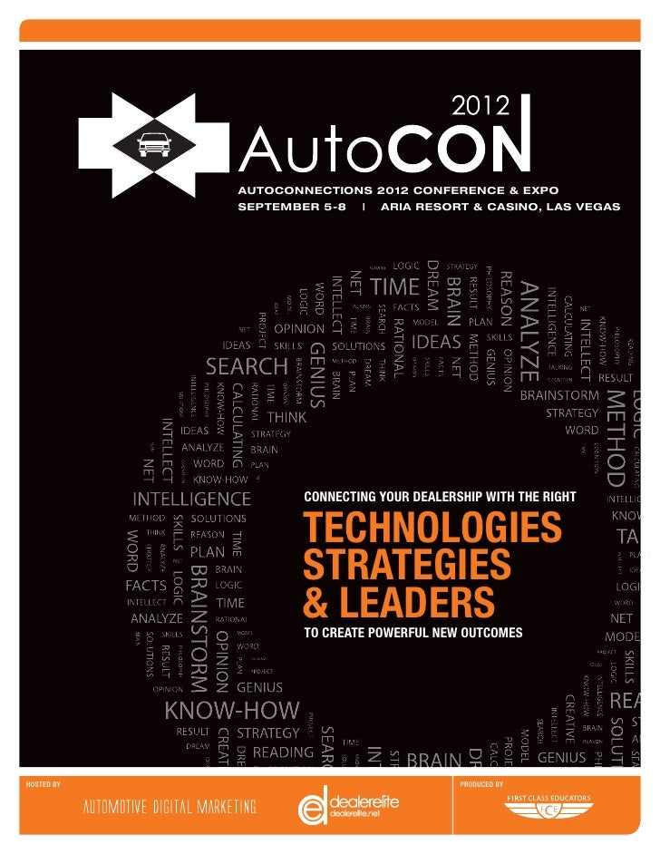 AUTOCONNECTIONS 2012 CONFERENCE & EXPO            SEPTEMBER 5-8   ARIA RESORT & CASINO, LAS VEGAS                    CONNE...