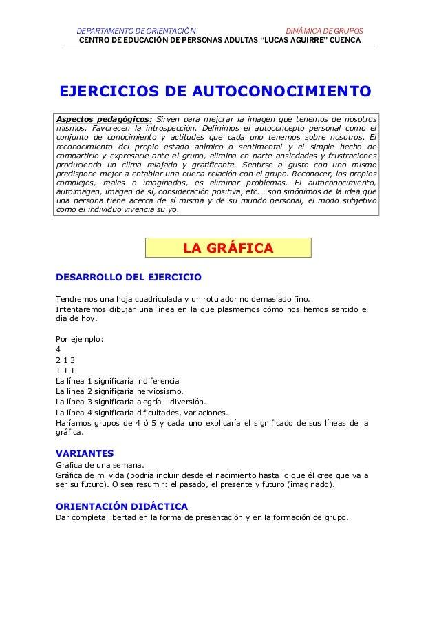 """DEPARTAMENTO DE ORIENTACIÓ N                  DINÁMICA DE GRUPOS      CENTRO DE EDUCACIÓN DE PERSONAS ADULTAS """"LUCAS AGUIR..."""
