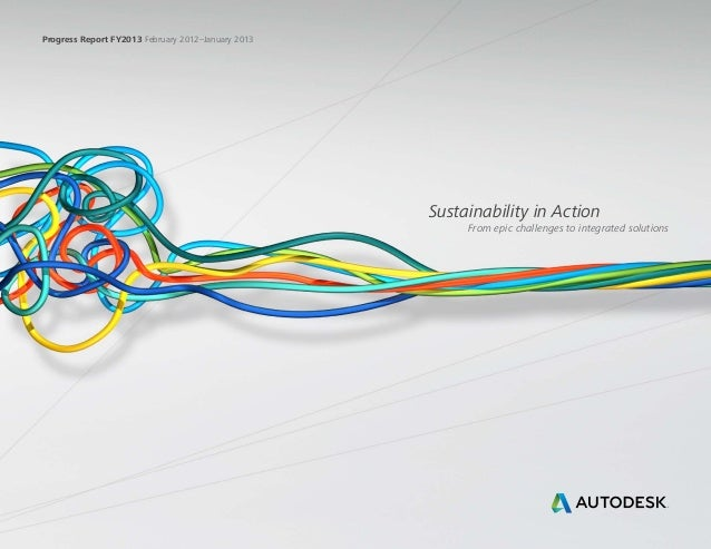 Progress Report FY2013 February 2012–January 2013Sustainability in ActionFrom epic challenges to integrated solutions