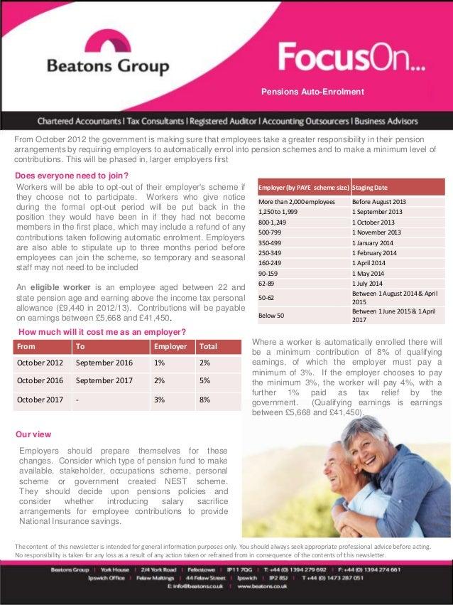 Auto enrolment - a quick guide