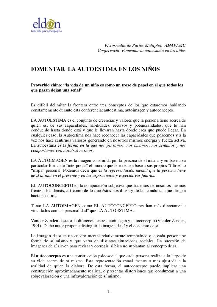Gabinete psicopedagógico                                         VI Jornadas de Partos Múltiples. AMAPAMU                 ...