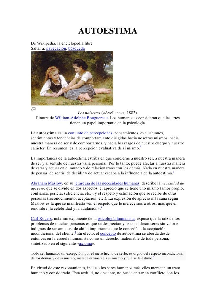 AUTOESTIMADe Wikipedia, la enciclopedia libreSaltar a: navegación, búsqueda                          Les noisettes («Avell...
