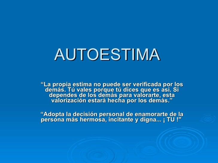 Autoestima powerpoint