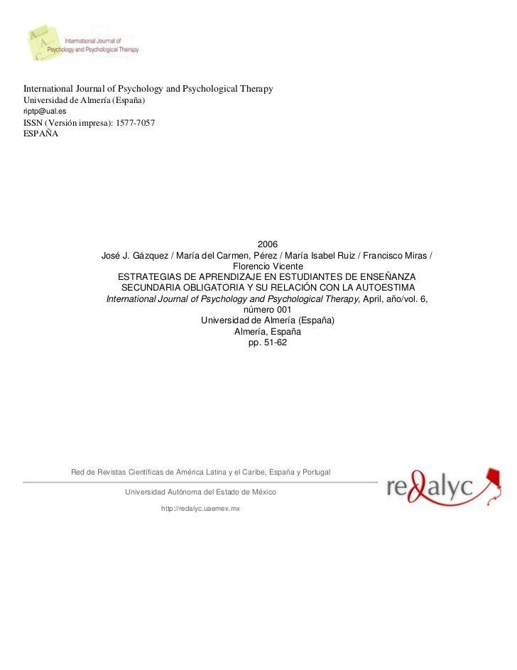 International Journal of Psychology and Psychological TherapyUniversidad de Almería (España)riptp@ual.esISSN (Versión impr...