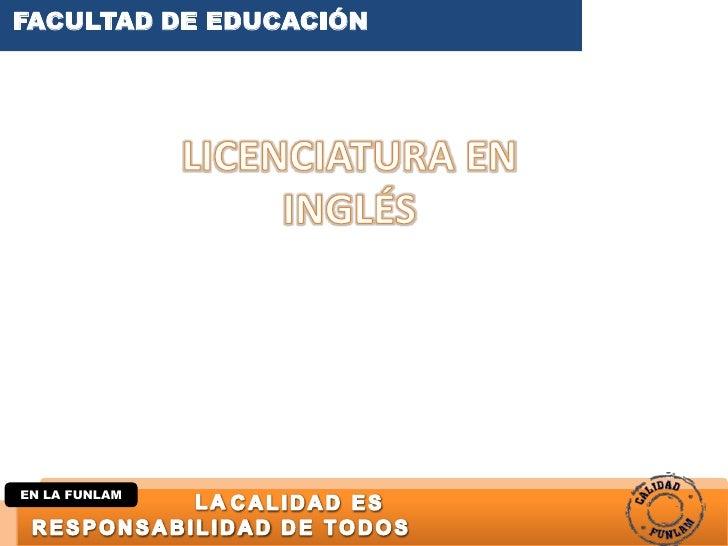 FACULTAD DE EDUCACIÓNEN LA FUNLAM