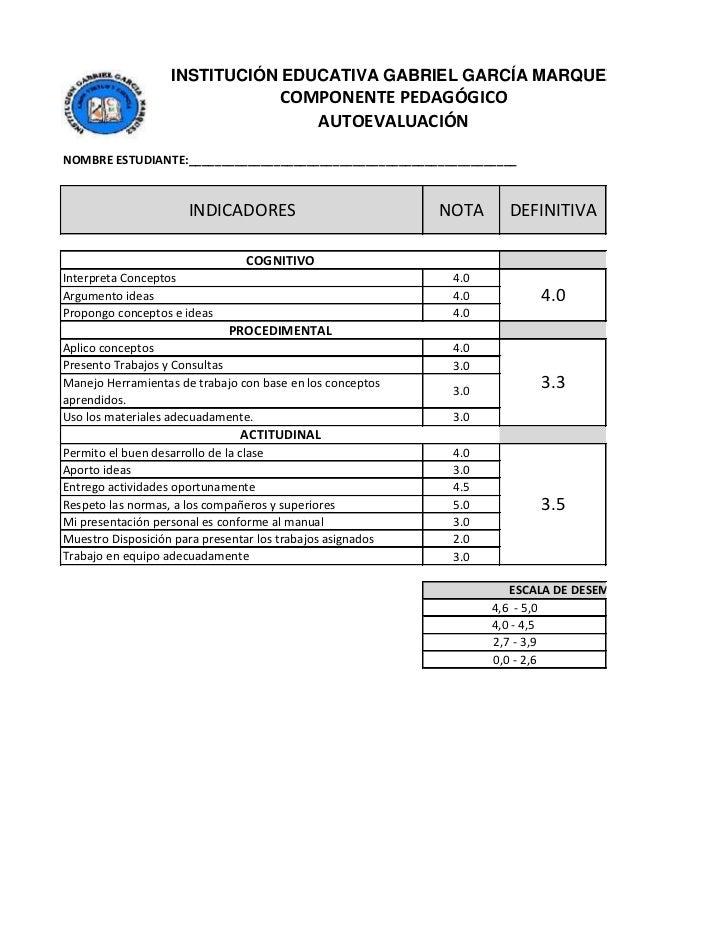 INSTITUCIÓN EDUCATIVA GABRIEL GARCÍA MARQUEZ                                       COMPONENTE PEDAGÓGICO                  ...