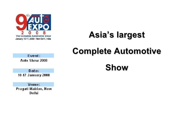 Auto Expo 2008 12 Dec07 New