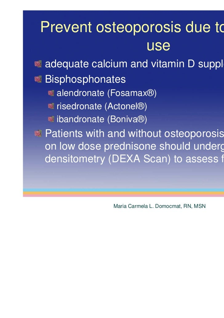 fosamax for steroid induced osteoporosis