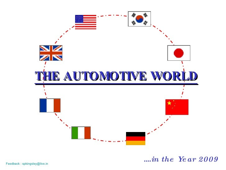 THE AUTOMOTIVE WORLD … .in the Year 2009 Feedback : spkingsley@live.in