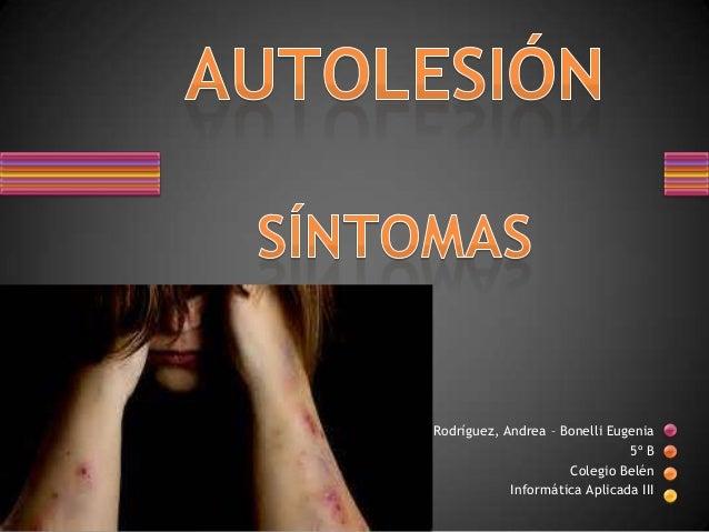 Autolesión - Síntomas