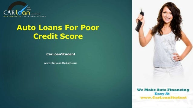 Auto Loans For Poor Credit Score - Instant Approval