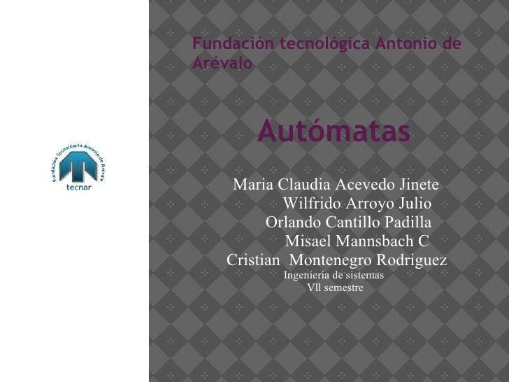 Automatas Infinitos