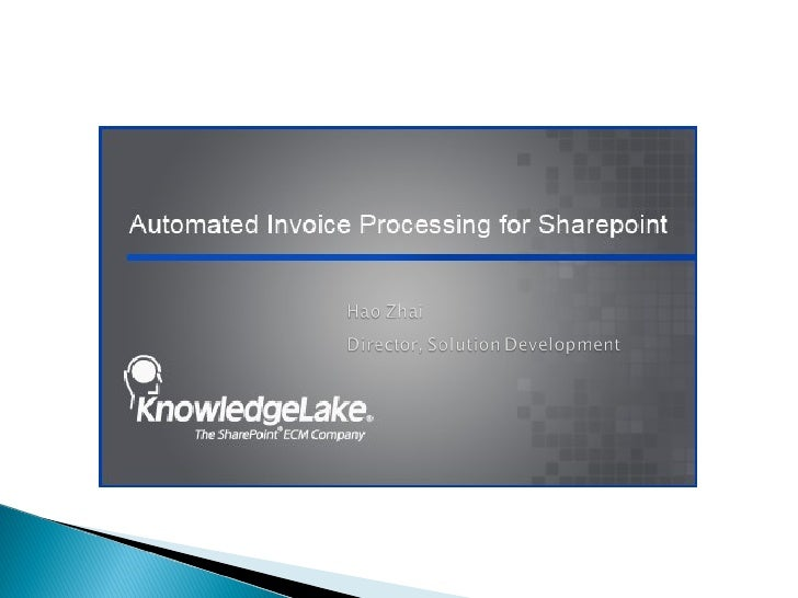 Automated Invoice Processing for SharePoint