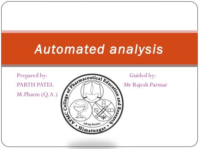 Automated analysis 112070804013