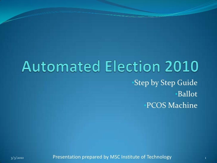 Automated Election 2010